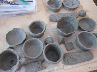 美術部で陶芸体験