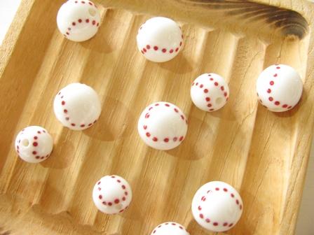 記念のとんぼ玉野球ボール