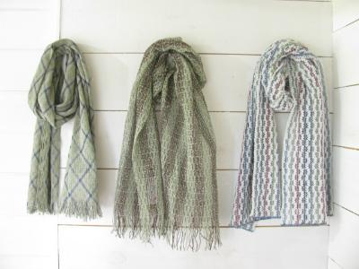 梅炭抄繊糸のストール