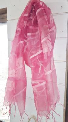 草木染シルクスカーフ