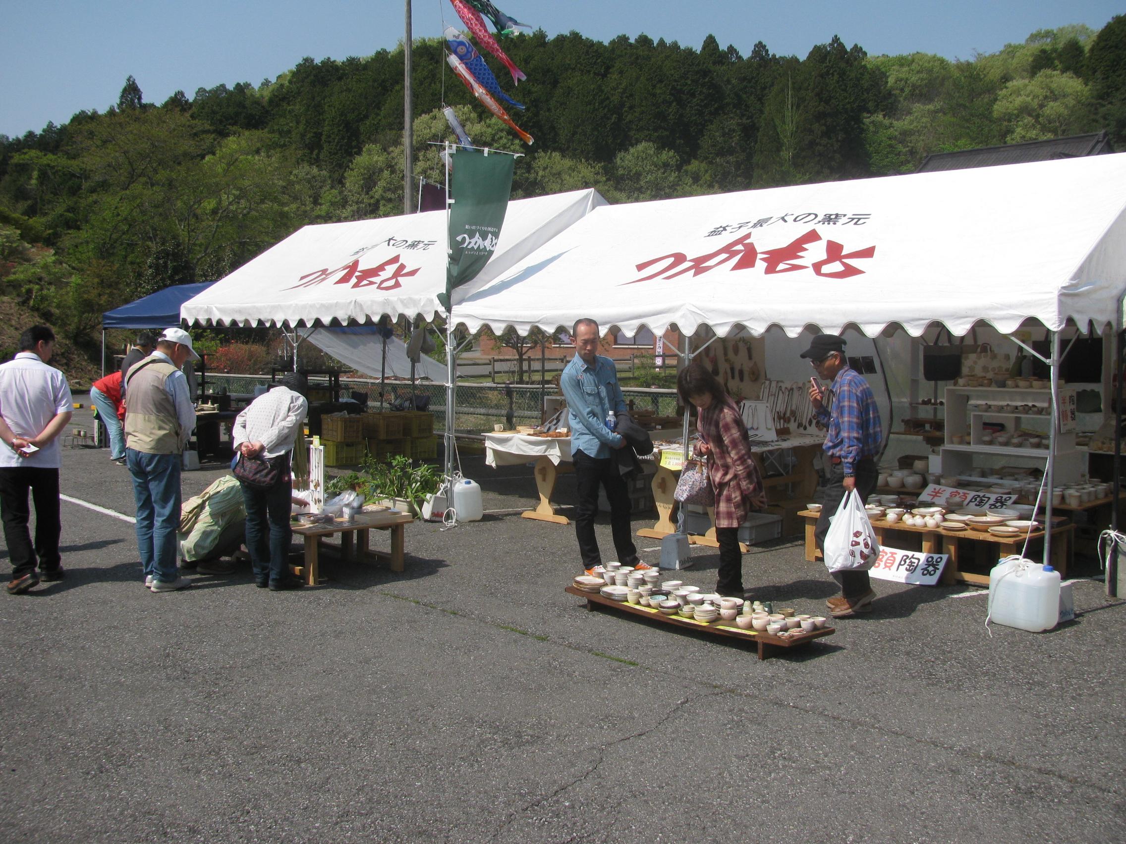 益子春の陶器市に出店します。