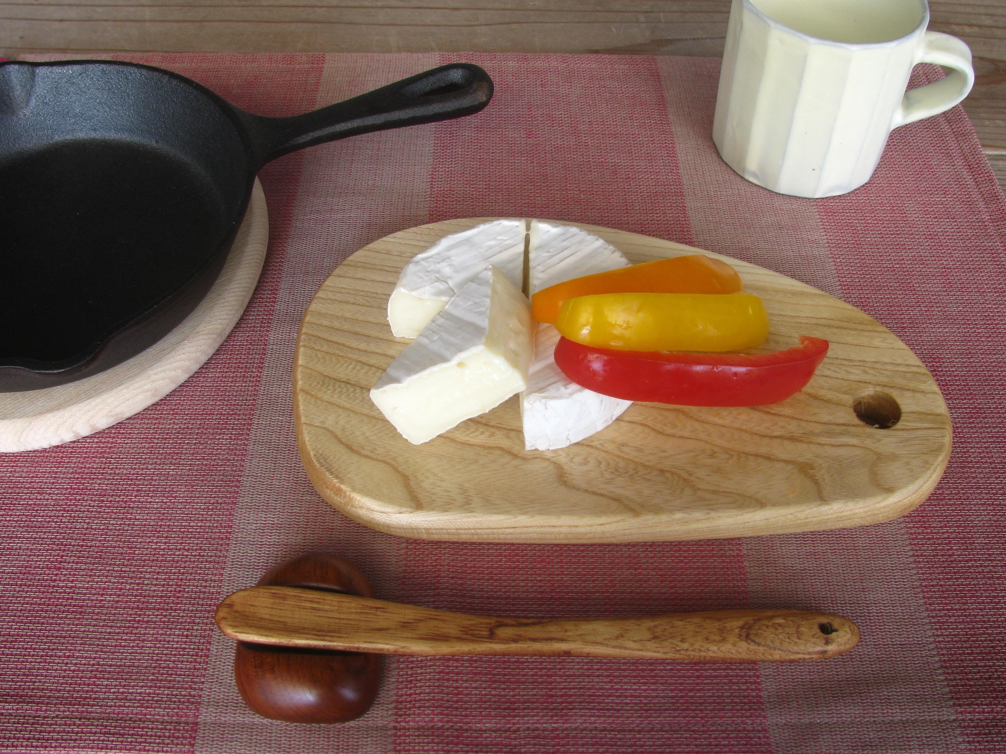 チーズトレー、マドラー&ジャムへらの新作が出来ました