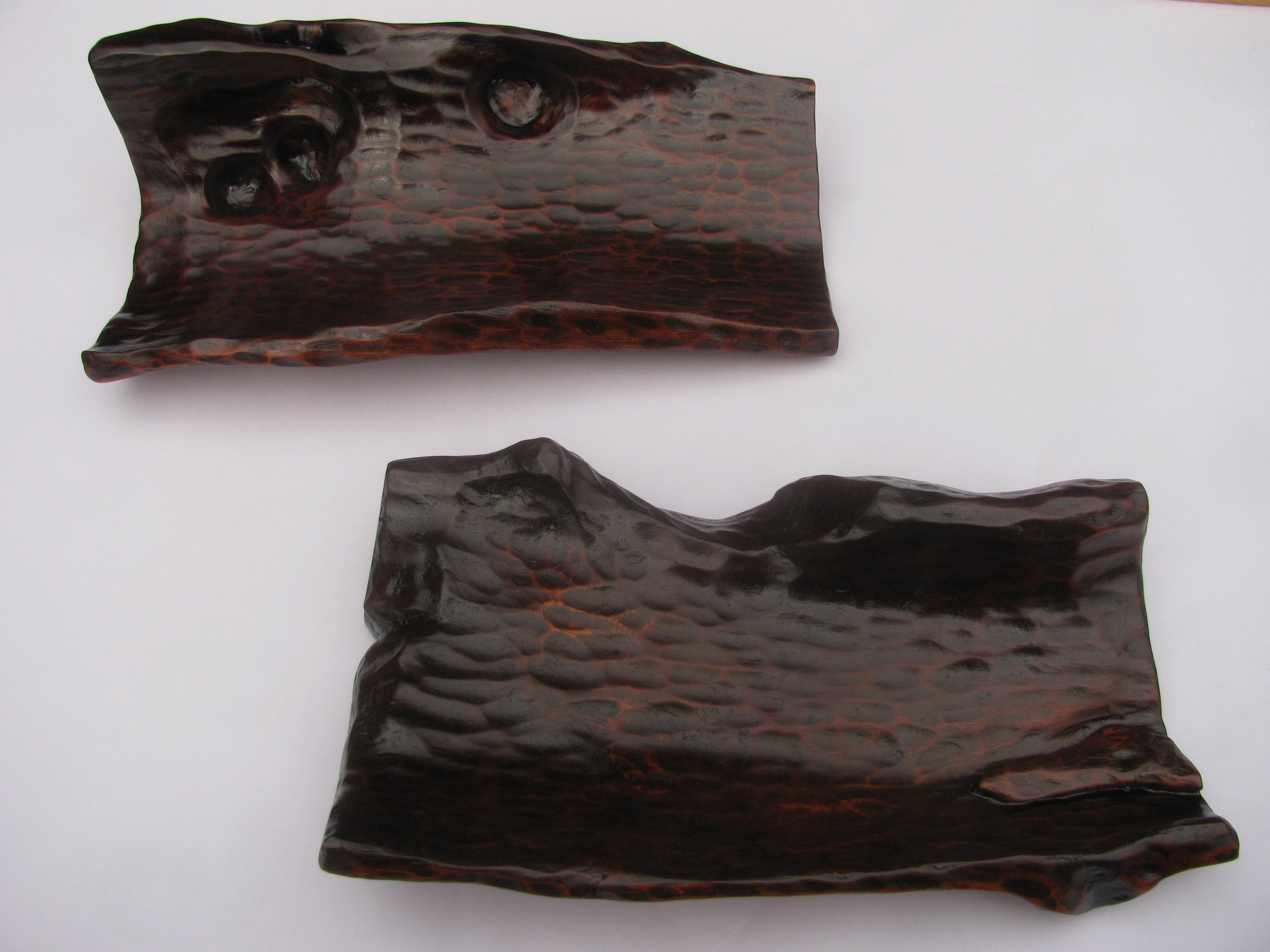 自然木の漆皿の新作が出来ました