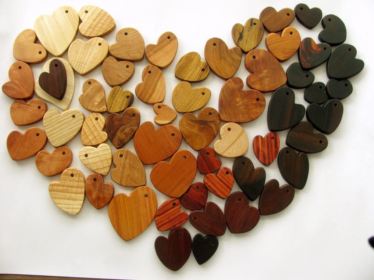 アクセサリー作り用:木のパーツ