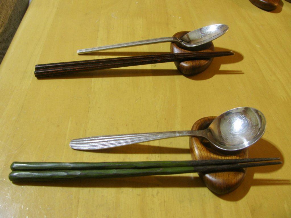 スプーン&箸置き(左利き)