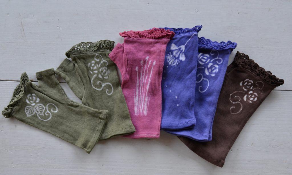 ローケツ染め 綿レース手袋