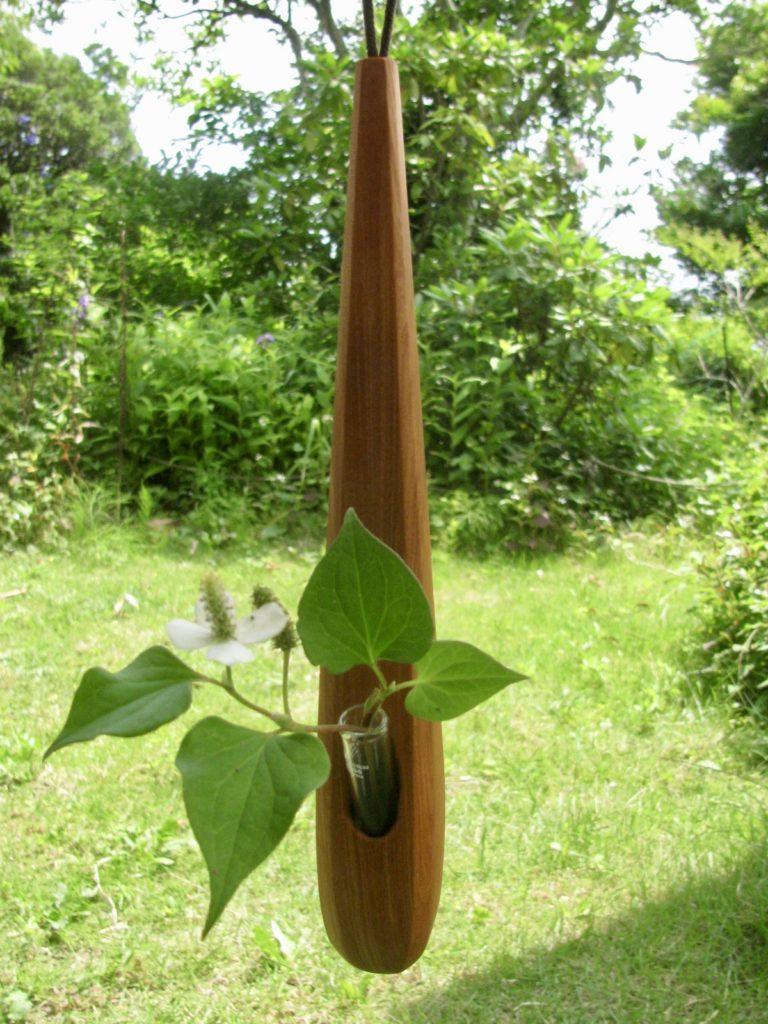 自然木の掛け一輪挿し  スレンダー
