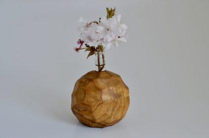 自然木の、面取り置きボール型一輪挿し