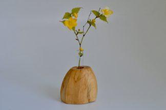 自然木の置き一輪挿し(面)
