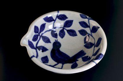 青い鳥片口:五山焼