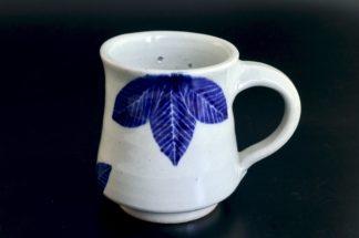 葉紋星の見えるマグカップ(オリオン):五山焼