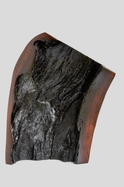 自然木の漆花器