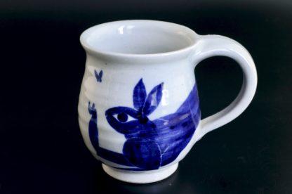 兎のマグカップ:五山焼