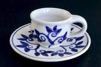 デミタスコーヒー&ソーサ:五山焼