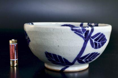 あじさい紋鉢:五山焼