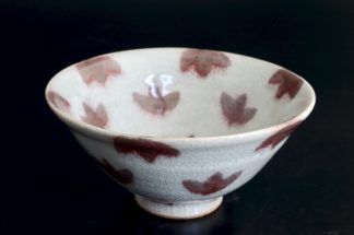 紅葉の飯碗:五山焼