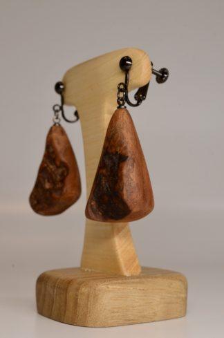 自然木のイヤリング:ブラ・吊り型