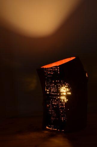 自然木の灯り:兼花器