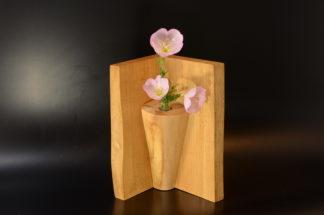 自然木の花器:コーナー型