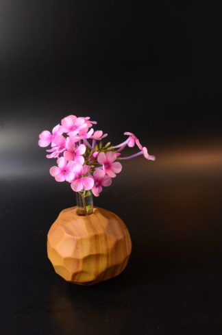 自然木の一輪挿し(面取りボール型)