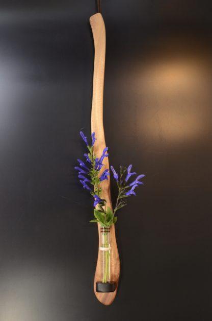 自然木の花器:壁掛け花