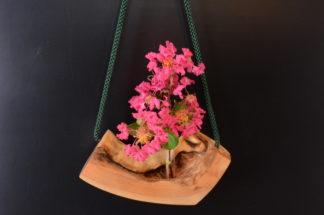 自然木の舟吊り型一輪挿し: ミニ