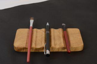 自然木のペン皿 塩地