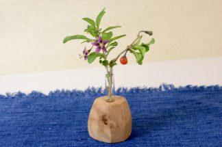自然木の一輪挿し(置き型・ミニ試験管)