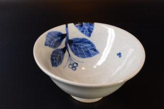 五山焼:飯碗・蝶
