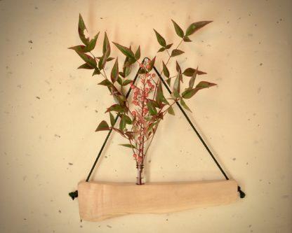自然木の舟吊り型一輪挿し