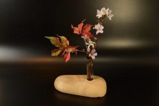 自然木の一輪挿し:置き型(平)