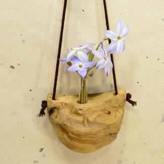 自然木の 舟吊り型一輪挿し