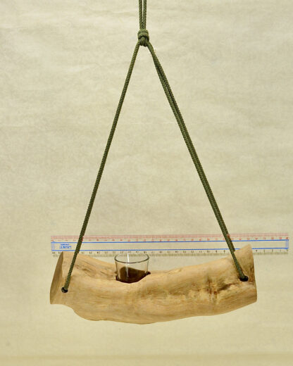 自然木の舟吊り型花器
