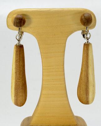 自然木のイヤリング