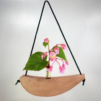 自然木の花器:舟吊り型