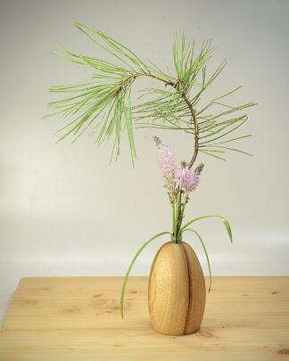 自然木の一輪挿し (置き型丸長)