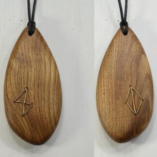 自然木のペンダント:真ちゅう