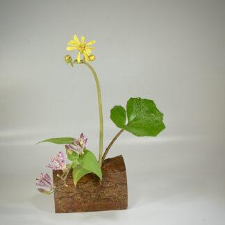 自然木の花器:欅の皮